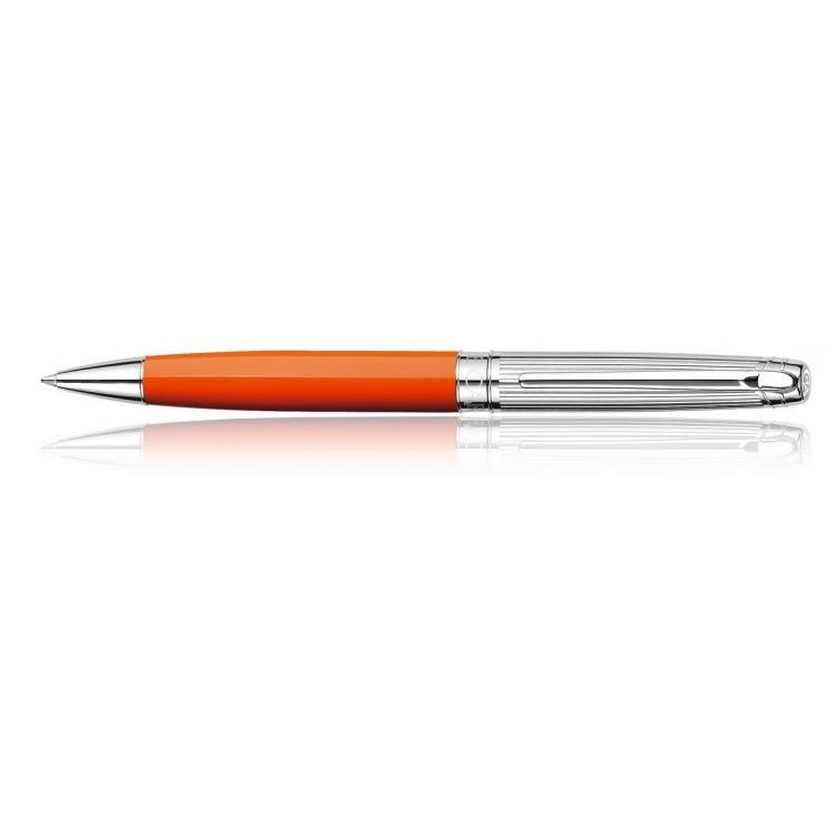 Bicolor Saffron silver plated ballpoint pen
