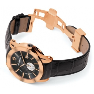 NeroUno Quartz Watch Rose Gold Black Dial