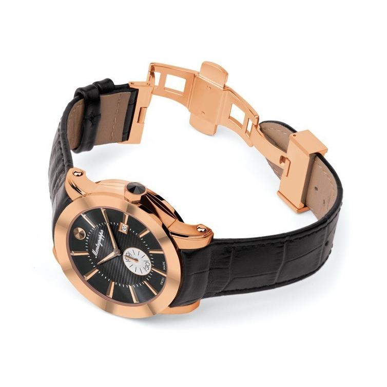 NeroUno Quartz Watch Rose Gold Black Dial