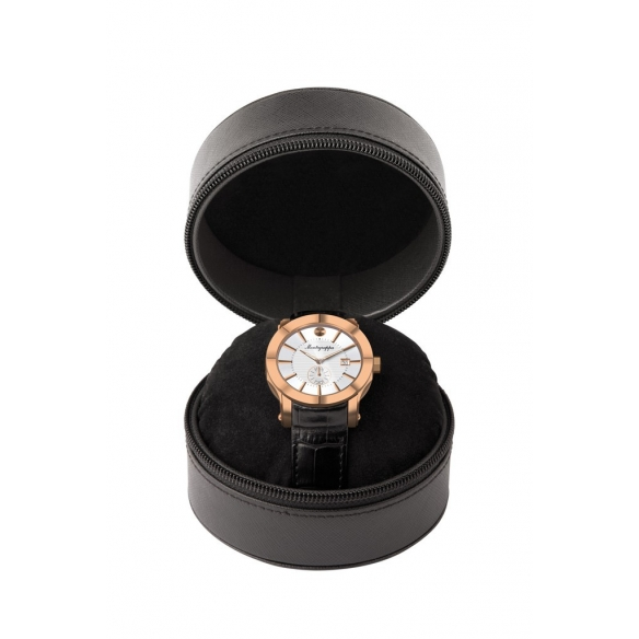 NeroUno Quartz Watch Rose Gold Silver Dial
