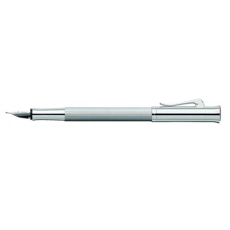 Guilloche Rhodium fountain pen