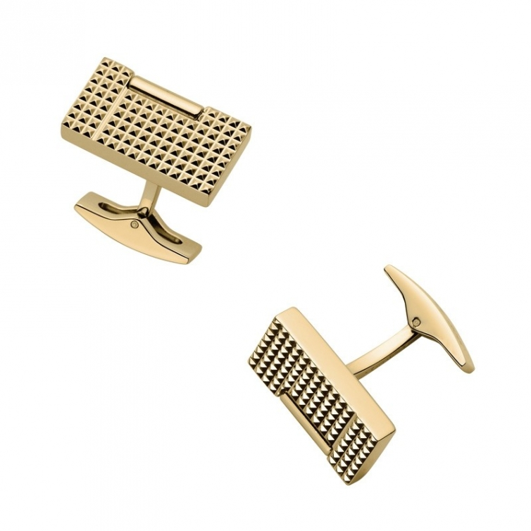 Cuff Links Gold Diamond head 5370OR S.T. DUPONT - 1