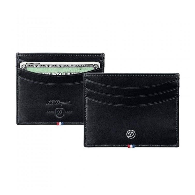 Line D Credit Card Holder Black S.T. DUPONT - 1