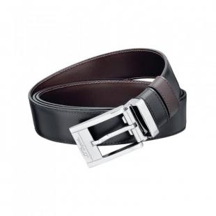 Line D Business Palladium Buckle Black / Brown Belt S.T. DUPONT - 1