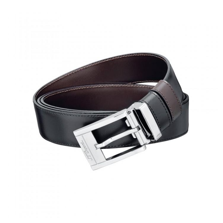 Line D Business Palladium Buckle Black/Brown Opasok S.T. DUPONT - 1