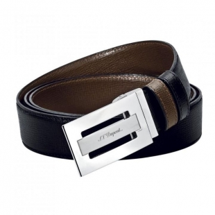 Line D Business Palladium Buckle Delta Box Belt S.T. DUPONT - 1