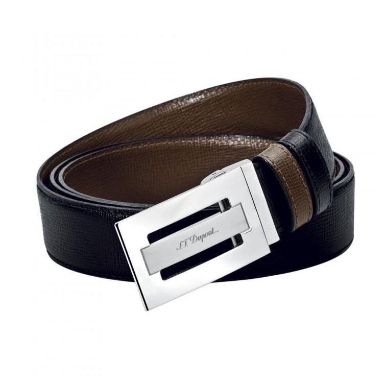 Line D Business Palladium Buckle Delta Box Belt S.T. DUPONT - 1