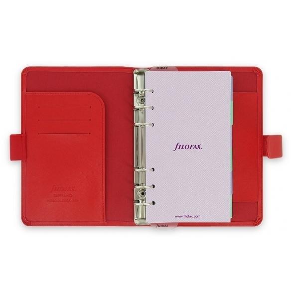 Saffiano Diář osobní červená FILOFAX - 1